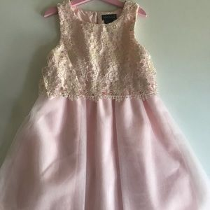 Pink and gold special occasion size 8